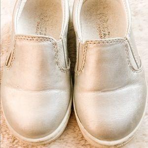 Silver Slip-On Sneakers